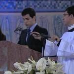 Un joven sodálite en la Misa del Papa