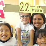 Niños del Colegio La Alegría en el Señor en la Marcha por la Vida