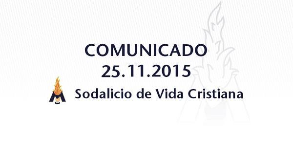 Comunicado del Sodalicio de Vida Cristiana - Sodalitium Christianae Vitae