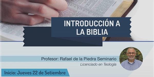 Curso Introduccion a la biblia a cargo de Rafael de la Piedra - Noticias Sodálites