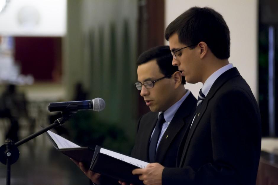 Profesión Perpetua de José Miguel Montoya y Mijailo Bokan en el Sodalicio de Vida Cristiana (1)