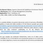 Carta remitida de parte del Sr. Virgilio Levaggi Vega