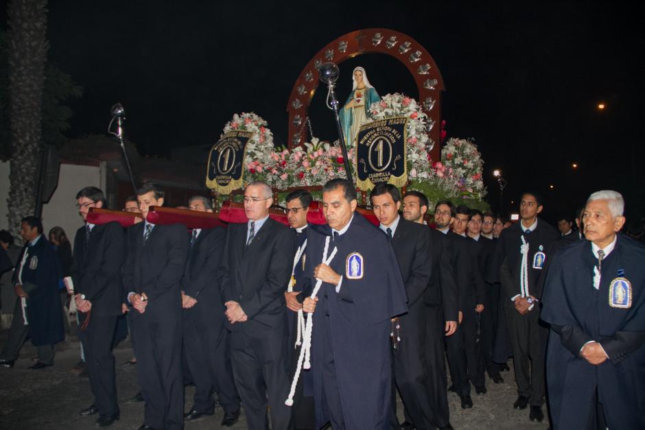 Homenaje del Sodalicio de Vida Cristiana durante la procesión de Nuestra Señora de la Reconciliación - Lima 2017 (18)