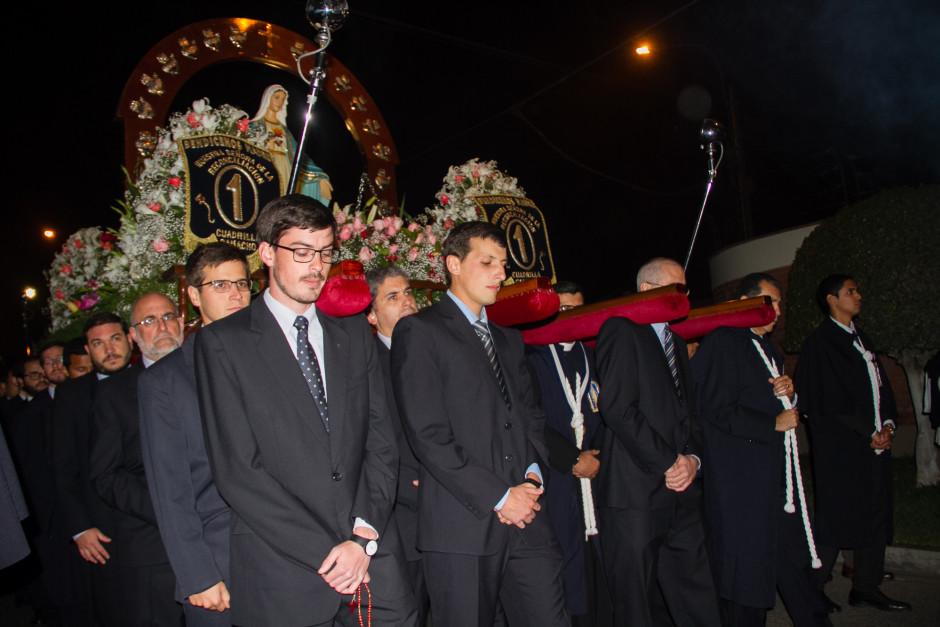 Homenaje del Sodalicio de Vida Cristiana durante la procesión de Nuestra Señora de la Reconciliación - Lima 2017 (22)