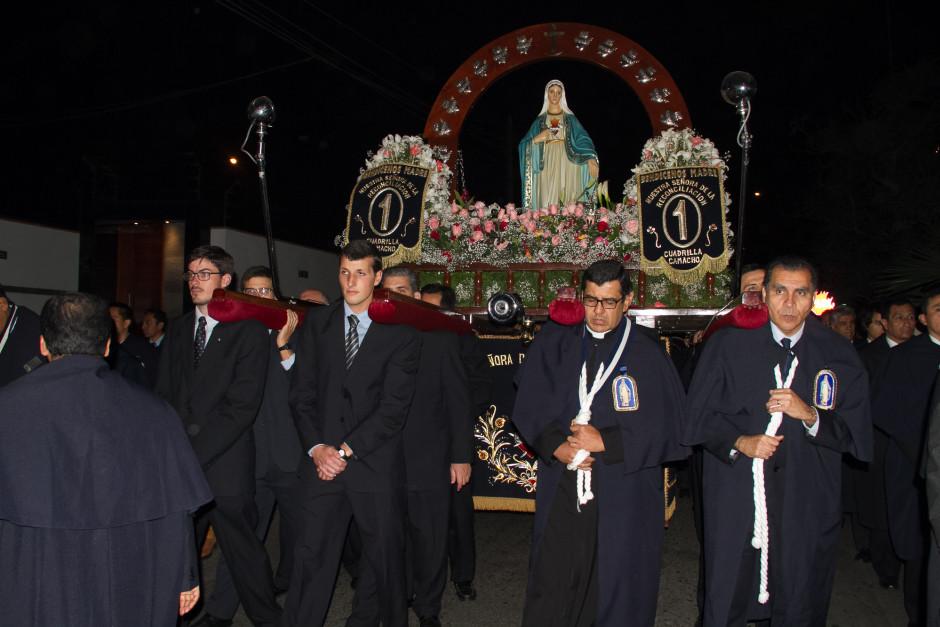 Homenaje del Sodalicio de Vida Cristiana durante la procesión de Nuestra Señora de la Reconciliación - Lima 2017 (37)