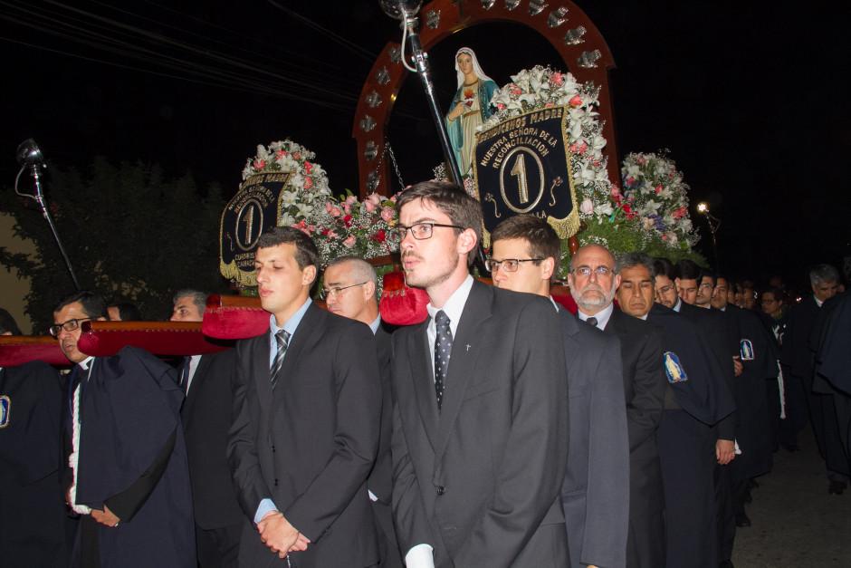 Homenaje del Sodalicio de Vida Cristiana durante la procesión de Nuestra Señora de la Reconciliación - Lima 2017 (43)