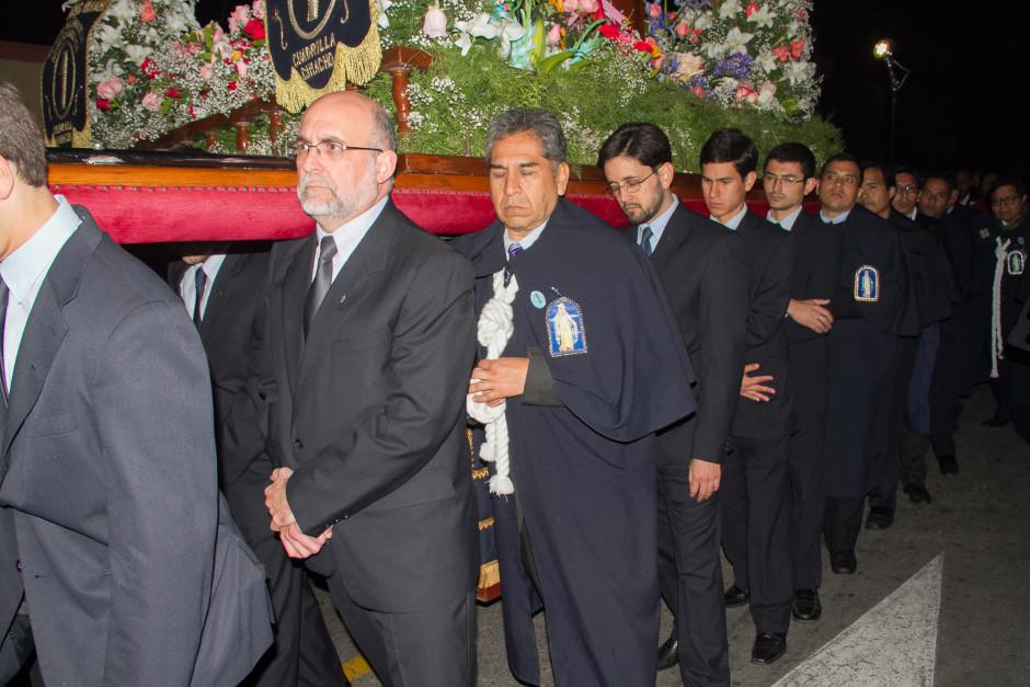 Homenaje del Sodalicio de Vida Cristiana durante la procesión de Nuestra Señora de la Reconciliación - Lima 2017 (45)