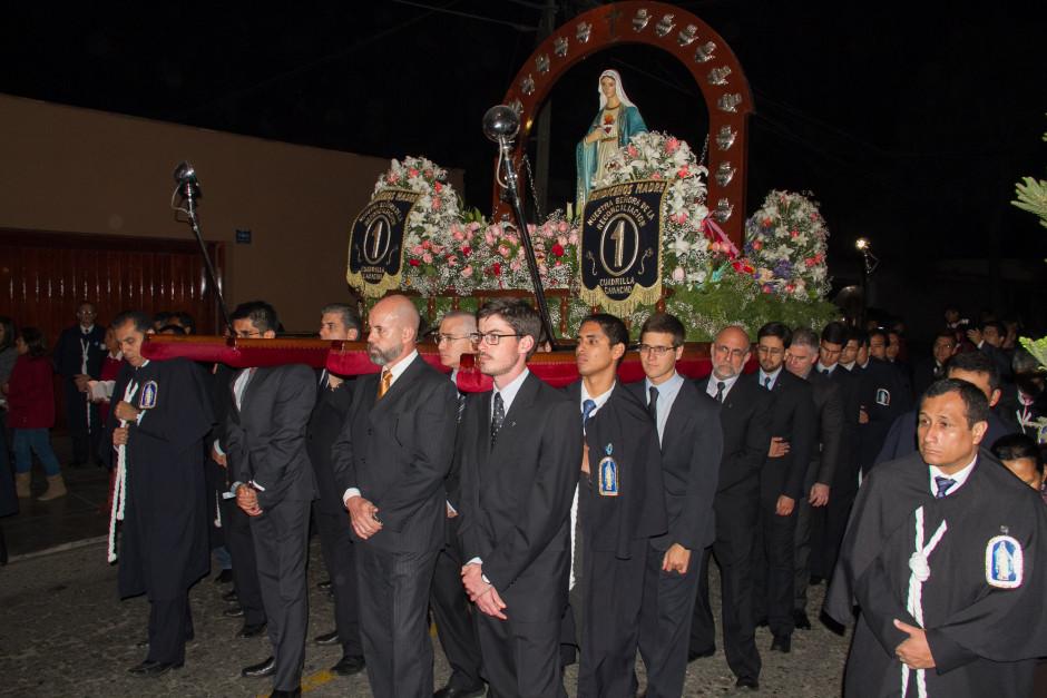 Homenaje del Sodalicio de Vida Cristiana durante la procesión de Nuestra Señora de la Reconciliación - Lima 2017 (46)