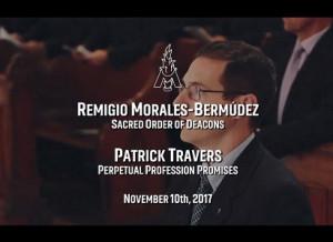 Portada - Video de la Ordenación Diaconal de Remigio Morales Bermúdez y Profesión Perpetua de Patrick Travers