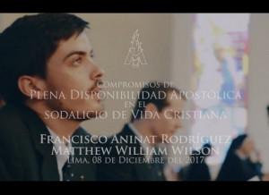 Portada - Video - Profesión Perpetua de Matthew Wilson y Francisco Aninat en el Sodalicio de Vida Cristiana