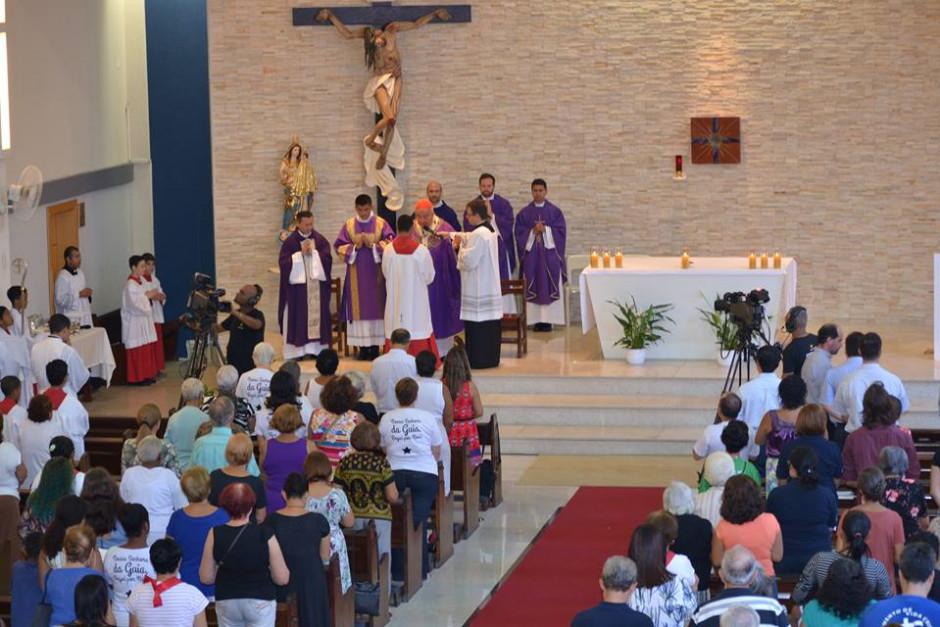 Cardenal Orani Tempesta presidió Misa de Acción de Gracias por los 32 años del Sodalicio en la Parroquia Nossa Senhora da Guia - Noticias Sodálites (1)