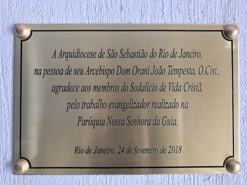 Cardenal Orani Tempesta presidió Misa de Acción de Gracias por los 32 años del Sodalicio en la Parroquia Nossa Senhora da Guia - Noticias Sodálites (16)