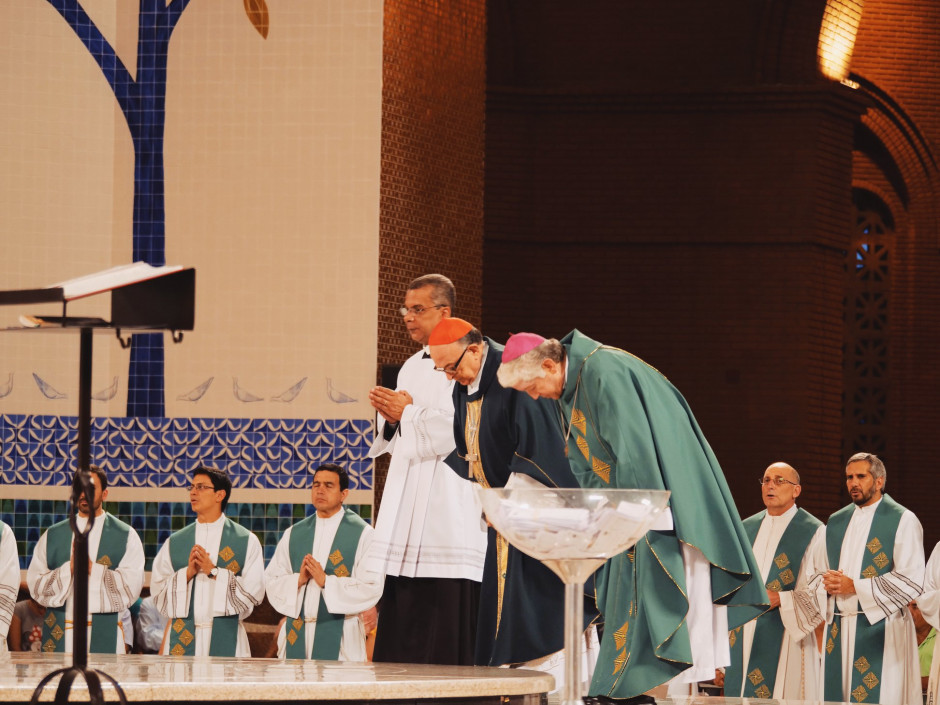 Misa del 19 de enero durante la V Asamblea General Ordinaria del Sodalicio
