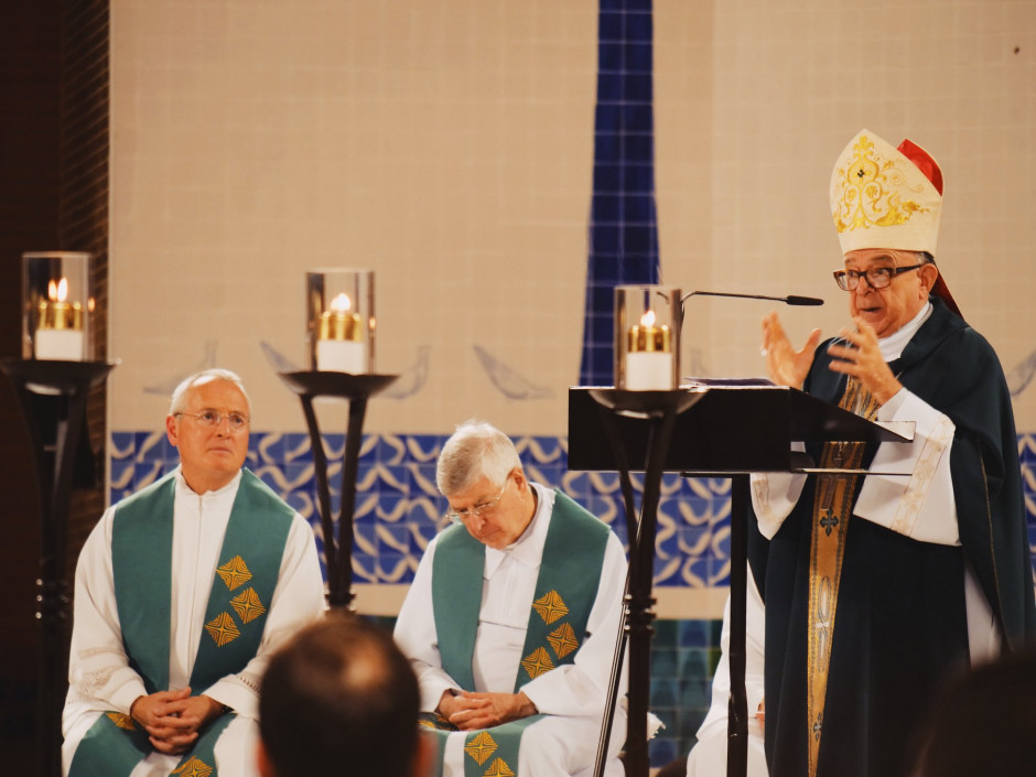 Homilía a cargo del Cardenal Raymundo Damasceno, Arzobispo de Aparecida