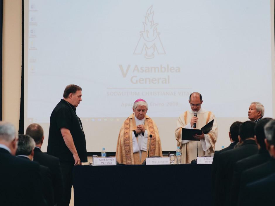 Liturgia inicial que dio inicio a las sesiones de la V Asamblea General del Sodalicio