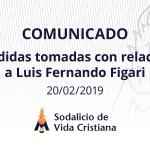 Medidas tomadas con relación a Luis Fernando Figari