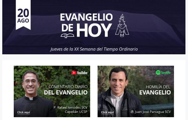 Banner de campaña para lista de servicio del Evangelio diario