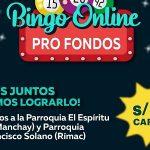 Bingo Solidario online para ayudar a los más necesitados de Manchay y Rímac en Lima